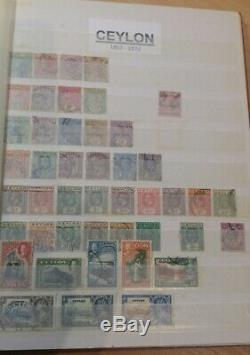 Ceylon stamp collection, 154 different stamps in album