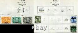 China Collection On Vintage Album Pages All Shown