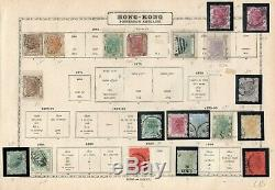 China + Hong-kong 1862/1954 Small Used Collection On Old Album Pages CV 1430