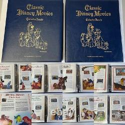 Classic Disney Movies Collector Panels And Stamps 2 Albums 26 Stories