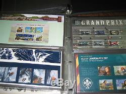 Collection 101 Presentation Packs Commemorative 2000-2010 Fv Stamps £435 Albums