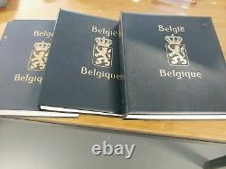 Collection Belgium Belgique België In 3 Davo Albums Free Postage
