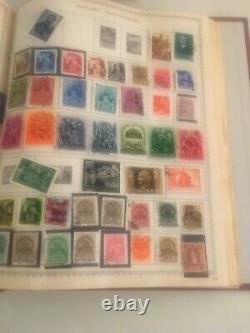 Collection In ww Postage Stamp Album The New Canada British Europe Us Un Bk-4