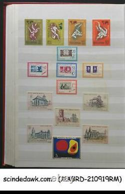 Collection Of Romania Mint Stamps In An Album