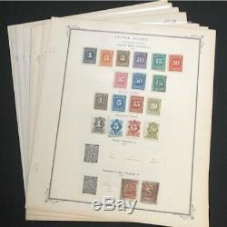 Collection Of U. S. Telegraph Stamps On 8 Album Pages 46 Stamps CV $275.70
