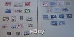 Collection lot Greenland stamp on album pages mint used