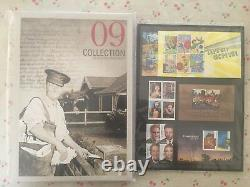 Collection of 2009 Australian Post YearBook Album with MUH Stamps Deluxe