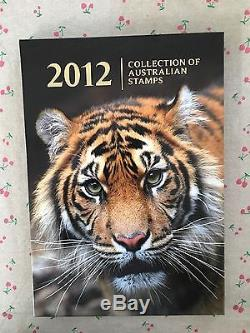 Collection of 2012 Australian Post Year Book Album with Stamps Deluxe Edition