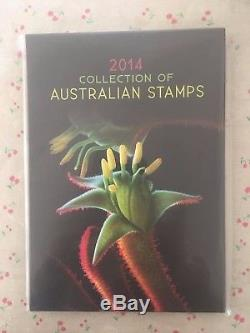 Collection of 2014 Australian Post YearBook Album with MUH Stamps Deluxe