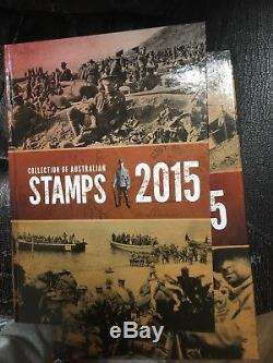Collection of 2015 Australian Post Year Book Album with Stamps Deluxe Edition