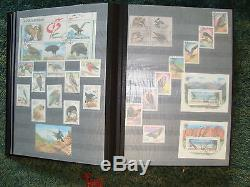 Collection of Stamps from Worlwide Album Birds from 1961