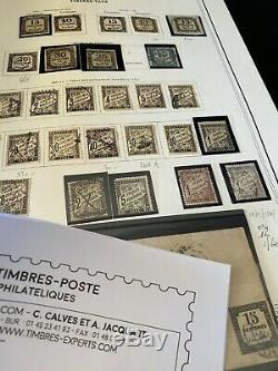 Collection timbres France GROS ALBUM Après catalogues dt PA, TAXES, Occupation FR