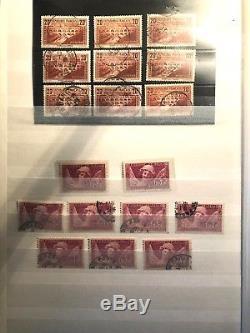 Collection timbres de France 1900-1993 / 2 albums Oblitérés/Neufs dt bonnes val