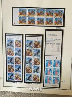 Complete Collection of US Plate Blocks MNH 1972-1989 in 2 Scott Albums