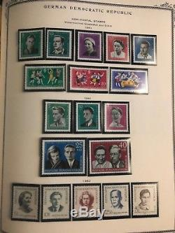 Complete East Germany DDR Scott album 1949 1990 Mint Stamp Collection Lot MXE