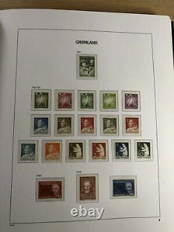 Complete collection Greenland 1938-1999 in DAVO Album Incl 1945 wrong overprints
