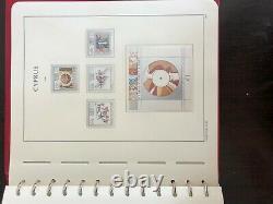 Cyprus 1960-1991 Mnh Collection Leuchtturm Pre-printed Album 1579$