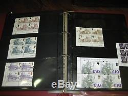 DEFINITIVE CYLINDER & BLOCK COLLECTION HIGH VALUE MNH FV £556 album