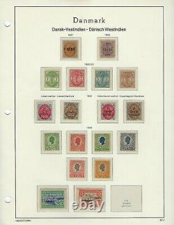 Danish West Indies (DWI) Collection on Lighthouse Hingeless Album Pages
