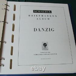 Danzig Collection in hingless Schaubek album 1923-1937 150 stamps/SS