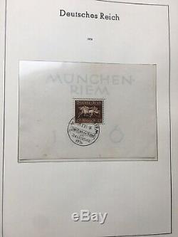 Deutsches Reich 1933 1945, Album Leuchtturm avec collection Oblitérée cote 1300