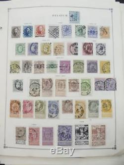 EDW1949SELL BELGIUM Very clean Mint & Used collection on album pages Cat $2355
