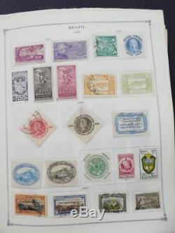 EDW1949SELL BRAZIL Very clean Mint & Used collection on album pages. Cat $1683