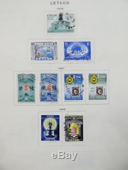EDW1949SELL CEYLON Very clean Mint & Used collection on album pages. Cat $550+