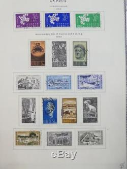 EDW1949SELL CYPRUS Very nice collection of Mint & Used on album pgs. Cat $1620