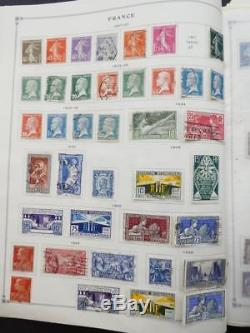 EDW1949SELL FRANCE Very clean Mint & Used collection on album pages. Cat $4618