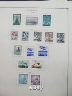 EDW1949SELL ICELAND Very clean Mint & Used collection on album pages Cat $1172