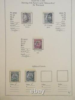 EDW1949SELL KIAUCHAU Nice Mint & Used collection on album pages Scott Cat $296