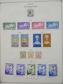 EDW1949SELL LIBYA Very clean Mint & Used collection on album pages. Cat $560