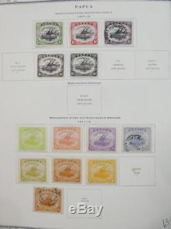 EDW1949SELL PAPUA Very nice Mint & Used collection on album pages. Cat $876.00