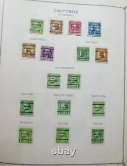 EDW1949SELL USA Extensive collection of Precancels in album