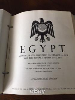 EGYPT COLLECTION in Minkus Album MINT 1927 1991 + PALESTINE 850+ Stamps AG
