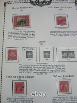 ESTATE book All American Stamp Album collection 100's of stamps 1800s 1960s