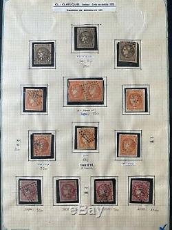 Ensemble timbres classiques album +collection dt bonnes valeurs / oblitérations