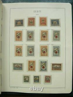 Estonia Stamps Collection in Leuchtturm Album 1918 1940 Almost Complete