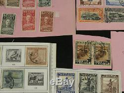 Excellent Belgian Congo, Ruanda Stamp Collection Lot Mint Used Stock Album Pages