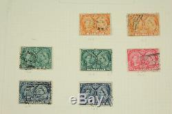 Excellent Canada Stamp Collection Lot on Album Pages 1859-1970 withEarly, Used BOB