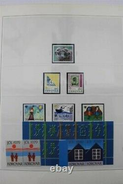 FAROE Denmark MNH 1975-2012 + Booklets 2x Safe Albums Some 2013 Stamp Collection