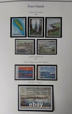 FAROE ISLANDS COLLECTION 1919-2017, in a Palo Deluxe Album NH, Scott $2,431.00+