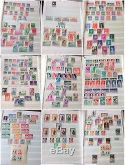FIN DANNÉE LOT 109 collection timbres Monaco 4 albums débuts à faciale