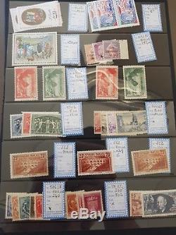 FRANCE sélection #19 collection timbres dt 3 albums stock maj Pont du Gard