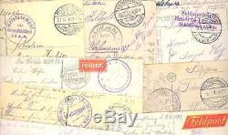 Feldpost 1. Weltkrieg Album mit ca. 495 gelaufenen alten Ansichtskarten