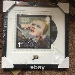 Framed Dawid Bowie HUNKY DORY Album Stamp Limited Collection 687/950
