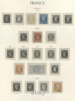 France 1849-1959 Cv9500.00 Collection In Lighthouse Album Mnh/used