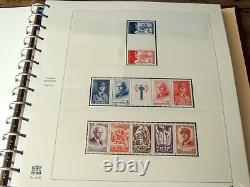 France 1940/1959 Collection de 20 années complètes, neufs en album Safe