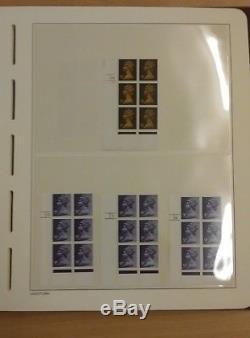GB Collection Of 360+ Decimal Machine Cylinder Plate Blocks In Leuchtturm Album